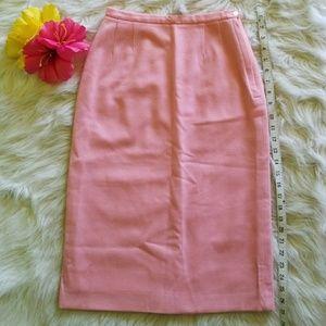 🐩💕Vintage Baby Pink Wool Wiggle Skirt